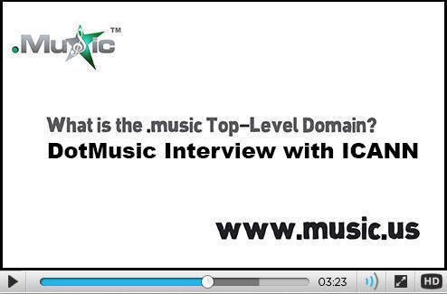 What is the .music generic Top-Level Domain (gTLD) Name?