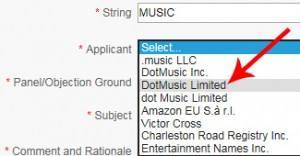 Select Community Applicant - DotMusic Limited