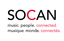 <h3>SOCAN</h3>SOCAN represents the Canadian performing rights of millions of Canadian and international music creators and publishers. SOCAN plays a leading role in supporting the long-term success of its more than 125,000 Canadian members, as well as the Canadian music industry.